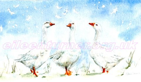 geese and snowflakes